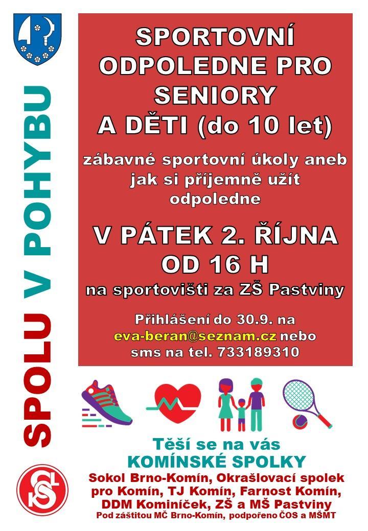Sportovní odpoledne pro seniory a děti do 10 let