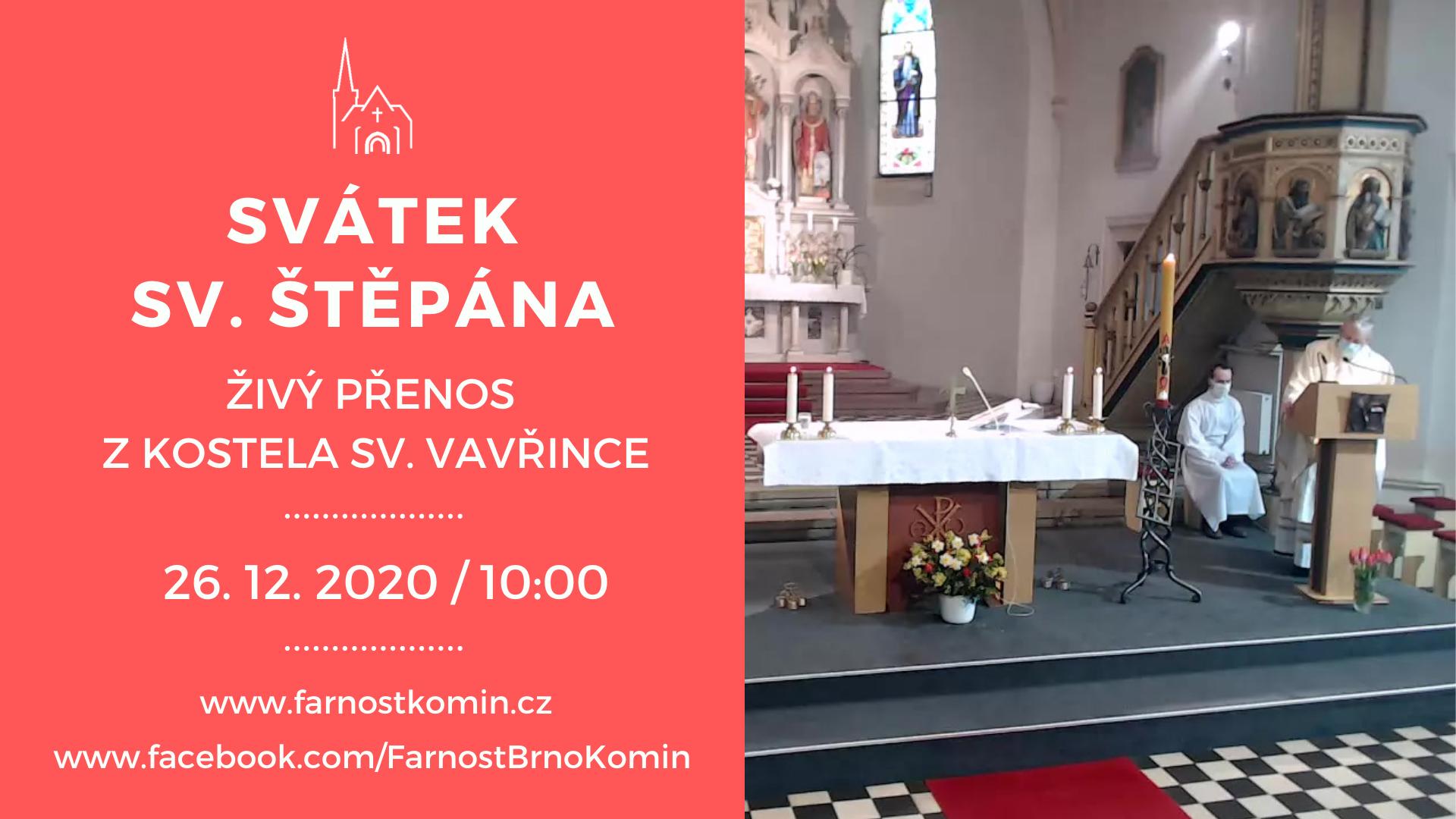 Svátek sv. Štěpána - rezervace / online